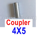Feilun FT011 Upgrade Parts-Coupler-4X5mm-Silver