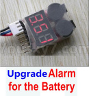 Feilun FT011 Upgrade Parts-Upgrade Alarm for the Battery,Can test whether your battery has enouth power