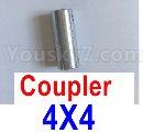 Feilun FT012 Upgrades-Coupler-4X4mm-Silver
