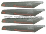 FX060-parts-04 Main blades(4pcs)-for Gray helicopter