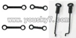 FX060-parts-11 Long Connect buckle(2pcs) & Short connect buckle(2pcs) & Steering gear lever(2PCS)