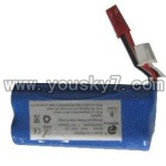 FX037-helicopter-parts-11 Battery 7.4v 1500mah with red plug