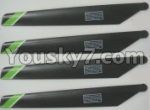 FX052-parts-08 Main rotor blades(4pcs)-Green