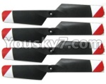 FX052-parts-11 Tail rotor blades(4pcs)-Red
