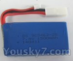 Feilun toys FX067 FX067C parts-16 7.4v 1500mah li-ion battery
