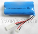 Feilun toys FX067 FX067C parts-17 Upgrade 2200mAh-7.4v White Plug Battery