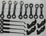 FX078-parts-11 Long Connect buckle(4pcs) & Short connect buckle(4pcs) & Round-shape buckle(4pcs) & Steering gear lever(4PCS)