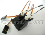 FX078-parts-27 SERVO with 2pcs Steering gear lever