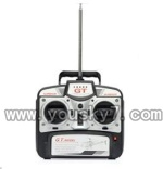 QS8008-helicopter-44-parts Remote control with Antena