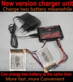 HJ Toys W606-3 Parts,HuaJun Toys W606-3 Parts-29 Upgrade charger and Balance charger-Can charge two battery at the same time(Not include the 2X battery)