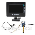 HJ Toys W606-3 Parts,HuaJun Toys W606-3 Parts-40 5.8G Image transmission Display,transmittt board and wire
