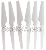 HuaJun Toys W609-7 W609-8 Parts-04-01 Main rotor blades(6pcs)-White