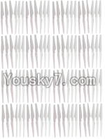 HuaJun Toys W609-7 W609-8 Parts-04-03 Main rotor blades(64pcs)-White