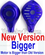 HuaJun Toys W609-7 W609-8 Parts-08-02 Upper and bottom motor cover-Blue(1 set)