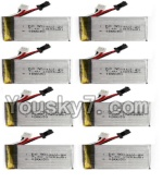 HuaJun Toys W609-7 W609-8 Parts-18-03 7.4V 1500MAH Battery(6pcs)