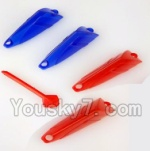 YiZhan X6 Tarantula Parts Parts-29 lampshade(2pcs Red,2pcs Blue & 1pcs Red For the Upper shell cover)