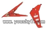 JTS-826-parts-12 Direction wings-Red(Horizontal&Vertical)