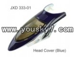 JXD-333-helicopter-parts-03 Head cover (Dark blue)