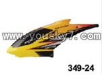 JXD-349-parts-24 Head cover (Yellow)