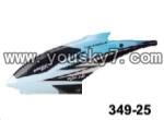 JXD-349-parts-25 Head cover(Blue)