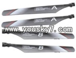 JXD-355-helicopter-parts-02 Main blades(4pcs-2A&2B)
