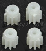 Lead Honor LH-X10 Parts-48 Small gear for the Main motor(4pcs)-9 Teeth