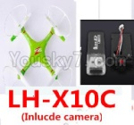 Lead Honor LH-X10 Parts-54 BNF for LH-X10C Quadcopter-(Green)