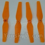 LH-X14 X14C X14DV X14WF Parts-05 Propellers,Main blades(4pcs)-Orange