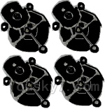 LH-X14 X14C X14DV X14WF Parts-27 Motor seat cover(4pcs)-Black