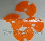LH-X14 X14C X14DV X14WF Parts-29 Bottom pieces cover for the Motor cover(4pcs)-Orange