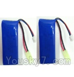 LH-X14 X14C X14DV X14WF Parts-37 Official 7.4v 1500mah Battery with EL plug(2pcs)