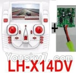 LH-X14 X14C X14DV X14WF Parts-42 Transmitter and Circuit baord(Can only be used for LH-X14DV Quadcopter)