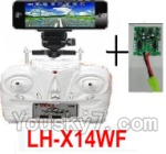 LH-X14 X14C X14DV X14WF Parts-43 Transmitter and Circuit baord(Can only be used for LH-X14WF Quadcopter)