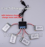 LH-X15 X15C X15WF Spare Parts-28 Upgrade 1-to-5 charger and balance charger(Not include the 5 battery)