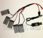 LH-X15 X15C X15WF Spare Parts-30 USB Charger wire & Upgrade 1-to-5 Conversion wire((Not include the 5 battery)