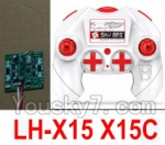LH-X15 X15C X15WF Spare Parts-38 Transmitter,Remote Control & Circuit board,Receiver board(Can only be used for LH-X15 X15C Quadcopter)