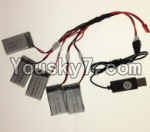LH-X16 X16C X16WF X16DV Spare Parts-33 USB Charger wire & Upgrade 1-to-5 Conversion wire((Not include the 5 battery)