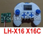 LH-X16 X16C X16WF X16DV Spare Parts-41 Transmitter,Remote Control & Circuit board,Receiver board(Can only be used for LH-X16 X16C Quadcopter)