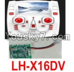 LH-X16 X16C X16WF X16DV Spare Parts-43 Transmitter,Remote Control & Circuit board,Receiver board(Can only be used for LH-X16DV Quadcopter)