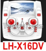 LH-X16 X16C X16WF X16DV Spare Parts-45 Transmitter,Remote Control(Can only be used for LH-X16DV Quadcopter)