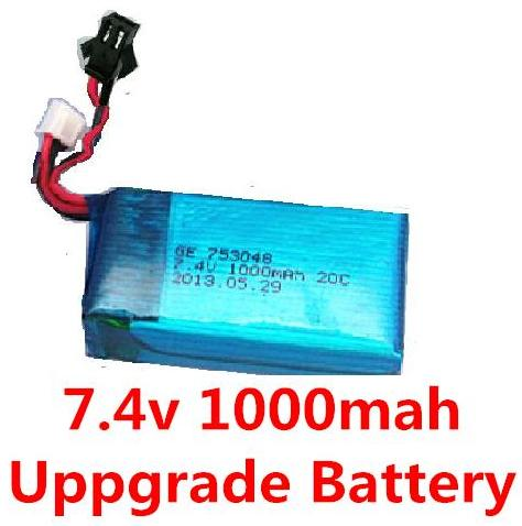 LH-X6 X6C Parts -17 Upgrade 7.4v 1000mah 20C Battery with SM plug.jpg