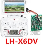 LH-X6 X6C Parts -21 LH-X6DV Transmitter with FPV real time video Transmission Receiver screen & Circuit board