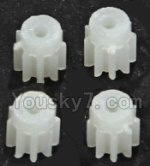 LH-X8 Parts-14 Small gear for the Main motor(4pcs)-9 Teeth