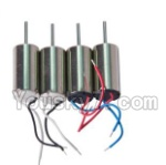 LH-X8 Parts-16 Rotating Motor with red and blue wire(2pcs) & Reversing-rotating Motor with black and white wire(2pcs)