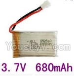 LH-X8 Parts-22 Upgrade 3.7v 680mah battery-Fly more time,more power(1pcs)