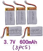 LH-X8 Parts-23 Official 3.7v 600mah battery(5pcs)
