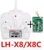 LH-X8 Parts-33 Transmitter and Circuit baord(Can only be used for LH-X8 or LH-X8C Quadcopter)