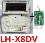 LH-X8 Parts-34 Transmitter and Circuit baord(Can only be used for LH-X8DV Quadcopter)