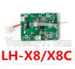 LH-X8 Parts-39 Circuit board,Receiver board (Can only be used for LH-X8 or LH-X8C Quadcopter)