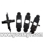 LH1202-parts-06 Upper main grip set & Lower main grip set